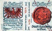 10 Heller (Rattenberg) -  obverse