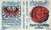 10 Heller (Rattenberg) -  reverse