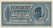 100 Karbowanez – obverse
