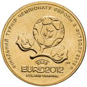 1 Hryvnia (EURO 2012) – obverse