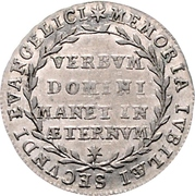 1 Ducat (Silver pattern strike; Reformation) – reverse