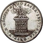 2 Ducat (Silver pattern strike; Augsburg Confession) – reverse