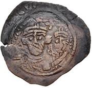 Nummus / Fals - Abd al-Malik ibn Marwan to al-Walid I ibn 'Abd al-Malik - two facing bust type (Spain & North Africa - Arab-Byzantine) – obverse