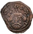 Nummus / Fals - Abd al-Malik ibn Marwan to al-Walid I ibn 'Abd al-Malik - pseudo-Byzantine type, facing bust (Arab-Byzantine) – obverse