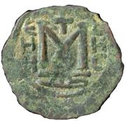 Follis / Fals - Muawiyah I - standing figure type (Arab-Byzantine) – reverse