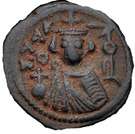 Follis / Fals - Anonymous (Facing bust type - Hims mint - Arab-Byzantine) – obverse