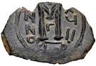 Follis / Fals - Anonymous - three standing figures type (Arab-Byzantine) – reverse