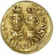 Solidus  / Dinar - Pseudo-Byzantine - two standing figures type (Arab-Byzantine) – obverse