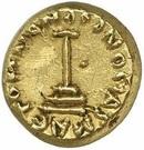 Solidus  / Dinar - Pseudo-Byzantine - two standing figures type (Arab-Byzantine) – reverse