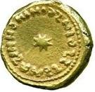 Solidus / Dinar - al-Walid I b. 'Abd al-Malik - al-Andalus - Transitional coinage (Spain & North Africa - Arab-Byzantine) – obverse