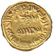 """Solidus / Dinar """"bilingual"""" - Unknown - al-Andalus - Transitional coinage (Spain & North Africa - Arab-Byzantine) – obverse"""