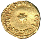 """Solidus / Dinar """"bilingual"""" - Unknown - al-Andalus - Transitional coinage (Spain & North Africa - Arab-Byzantine) – reverse"""