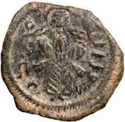 Follis / Fals - standing caliph type - Iliya (with star - Jerusalem - Arab-Byzantine) – obverse