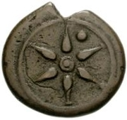 1 Uncia  (Wheel / Axe; struck) – obverse