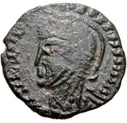 Bronze Æ - In the name of Constantine I, 306-337 (Bust facing left; without podium) – obverse