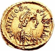 1 Tremissis - In the name of Theodosius II, 402-450 -  obverse