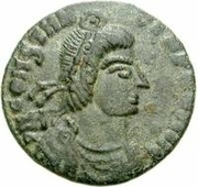 Bronze Æ - In the name of Constantius II, 337-361 (Round boat; without star) – obverse
