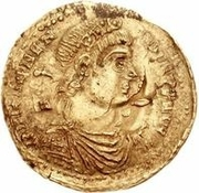 1 Solidus - In the name of Magnentius, 350-353 -  obverse