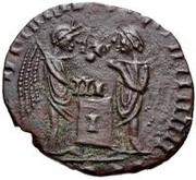 Bronze Æ - In the name of Constantine I, 306-337 (Bust facing right; filled podium) – reverse