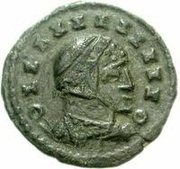 Bronze Æ - In the name of Constantine I, 306-337 (Bust facing right; hollow podium) – obverse