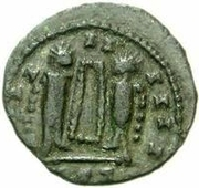 Bronze Æ - In the name of Constantine I, 306-337 (Bust facing right; hollow podium) -  obverse