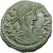 Bronze Æ - In the name of Constantius II, 337-361 (Plain staffs) -  obverse