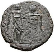 Bronze Æ - In the name of Constantine I, 306-337 (Bust facing left; without podium) -  obverse