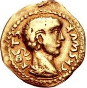 1 Aureus - Imitating Severus Alexander, 222-235 – obverse