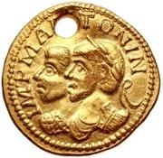 1 Aureus - Imitating Marcus Aurelius, 161-180, & Commodus, 177-192 – obverse