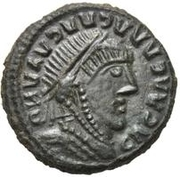 Bronze Æ - In the name of Constantine I, 306-337 (Sketched legend) – obverse