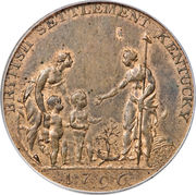 ½ Penny (Post Colonial Issue - Copper Company of Upper Canada) – obverse