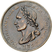 1 Cent (Post Colonial Issue - Washington Portrait Piece - Unity States) – obverse