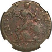 "Copper ""African Head"" – reverse"