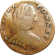 """Copper """"Mailed Bust Facing Right"""" – obverse"""