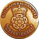 "2 Pence - ""Rosa Americana"" – reverse"