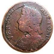 Copper (Bust left) – obverse