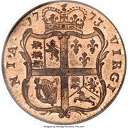 ½ Penny - George III – reverse