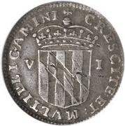 6 Pence (Lord Baltimore) – reverse