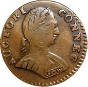 "Copper ""Small Head Facing Right, ETLIB INDE"" – obverse"