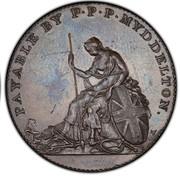 1/2 Penny - P.P.P. Myddelton – reverse