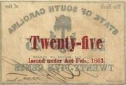 25 Cents (South Carolina) – reverse
