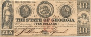 10 Dollars (Milledgeville, Georgia) – obverse
