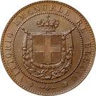 5 Centesimi - Vittorio Emanuele II – obverse