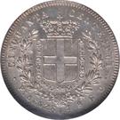 50 Centesimi - Vittorio Emanuele II – reverse