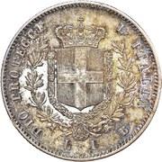 1 Lira - Vittorio Emanuele II – reverse