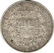2 Lire - Vittorio Emanuele II – reverse