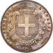 5 Lire - Vittorio Emanuele II – reverse