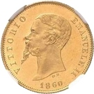 10 Lire - Vittorio Emanuele II – obverse