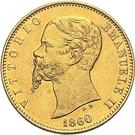 20 Lire - Vittorio Emanuele II – obverse