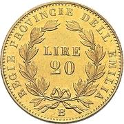 20 Lire - Vittorio Emanuele II – reverse